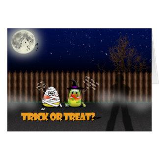Trick or Treat? Bento Babies Halloween Card