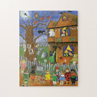 Trick or Treat, Bite and Eat. Halloween Puzzle