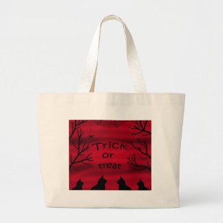 Trick or treat - black cats large tote bag