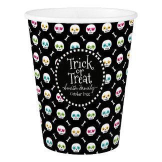 Trick or Treat. Bones and Skulls. Paper Cup