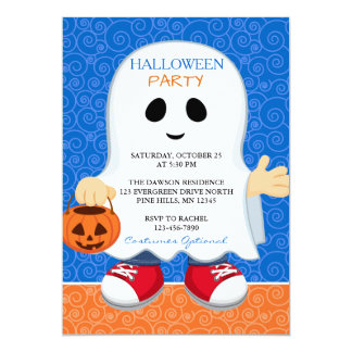 Trick or Treat Boy Halloween Party Invitations