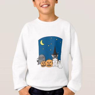 Trick or Treat Bulldog Halloween Sweatshirt