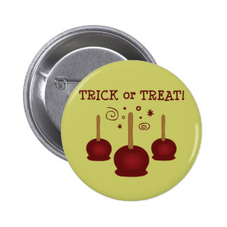 Trick or Treat Candy Apples 2 Inch Round Button