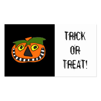 Trick or Treat Candy Bag Halloween Coupon Business Cards