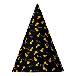 Trick or Treat Candy Corn Party Hat