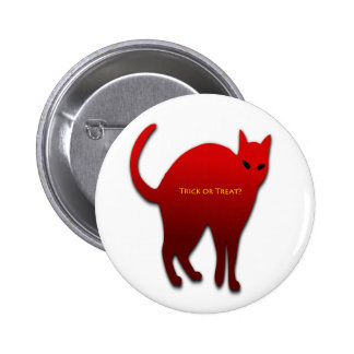 Trick or Treat Cat 2 Inch Round Button