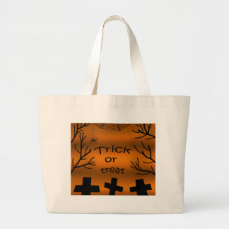 Trick or treat - Cemetery Large Tote Bag
