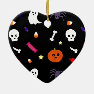 trick or treat ceramic heart ornament