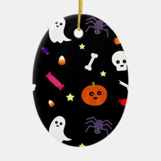 trick or treat ceramic ornament