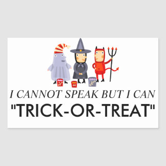 Trick or Treat Costume Stickers
