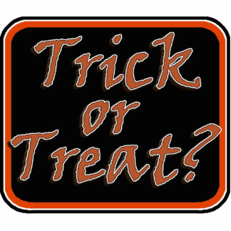 Trick or Treat  Creepy Viner Text Image Cut Outs