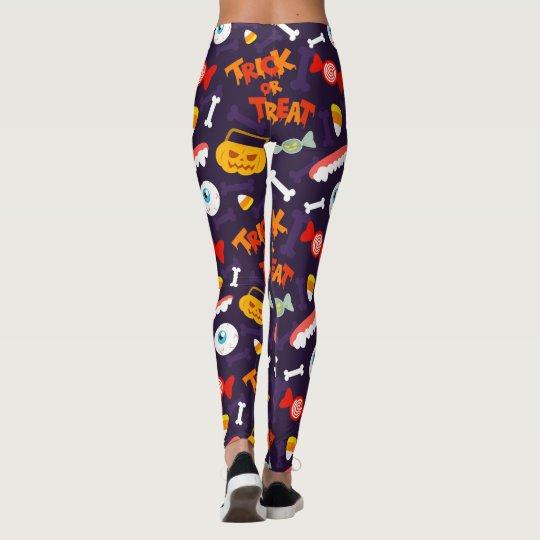 Trick or Treat Cute Halloween Pumpkin Monsters Leggings