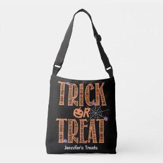 Trick or treat Cute Spiders and Halloween Pumpkin Crossbody Bag
