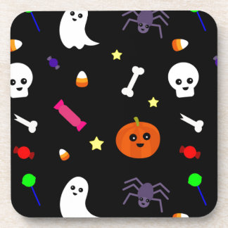 trick or treat drink coaster