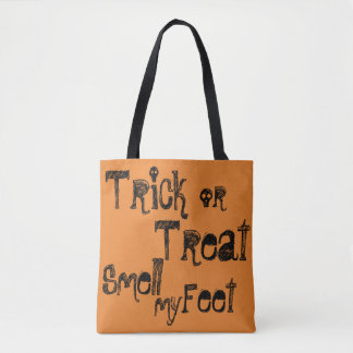 Trick or Treat... Feet (double side) custom name Tote Bag