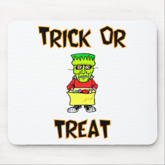 Trick Or Treat Frankenstein Mask Mouse Pad