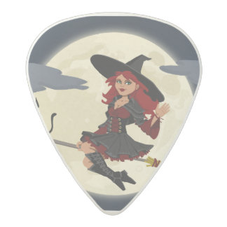 trick or treat friendly witch guitar pick