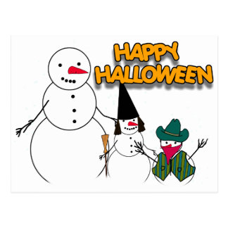Trick or Treat From the Halloween Snowmen Postcard