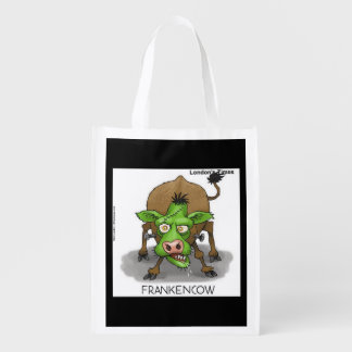 Trick Or Treat Funny Monster Cow Reusable Bag