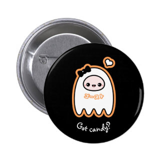 Trick or Treat Ghost 2 Inch Round Button