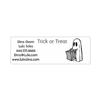Trick or Treat Ghost Halloween Independent Sales Self-inking Stamp
