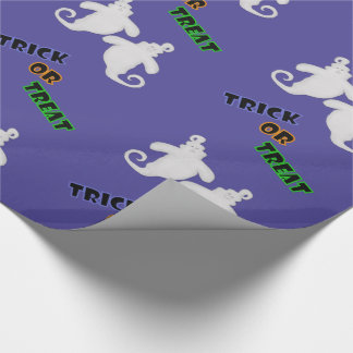Trick Or Treat Ghost Halloween Wrapping Paper 2