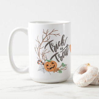 Trick or Treat Ghost Pumpkin Halloween Mug |