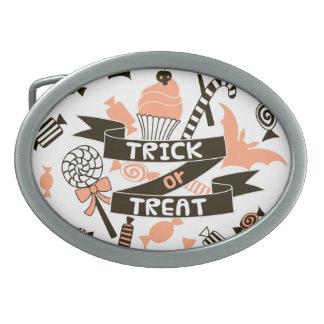 Trick or Treat Goodies Design Belt Buckle