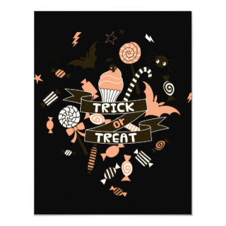Trick or Treat Goodies Design Card