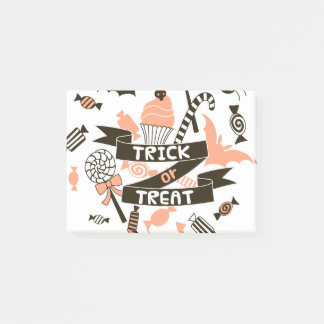Trick or Treat Goodies Design Post-it Notes
