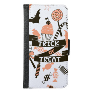 Trick or Treat Goodies Design Samsung Galaxy S6 Wallet Case