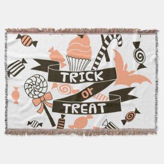 Trick or Treat Goodies Design Throw Blanket