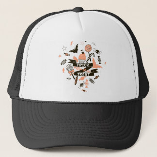 Trick or Treat Goodies Design Trucker Hat