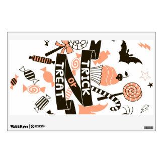 Trick or Treat Goodies Design Wall Sticker