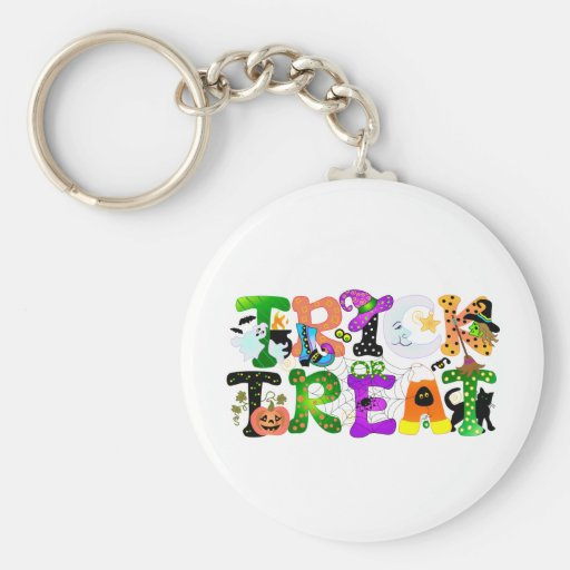 Trick or Treat Greeting Key Chain