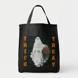 Trick or Treat Grocery Canvas Tote Bag