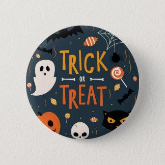 Trick or Treat Halloween 2 Inch Round Button