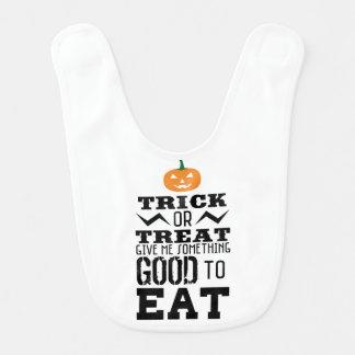 Trick Or Treat Halloween Bib
