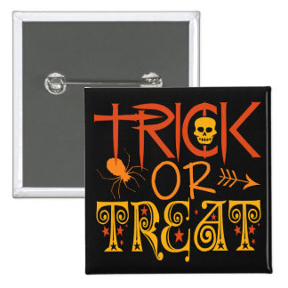 Trick or Treat Halloween buttons