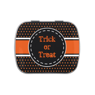 Trick or Treat Halloween Candy Tin