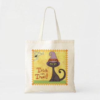 Trick or Treat Halloween Cat Tote Budget Tote Bag