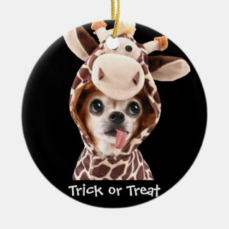 Trick Or Treat Halloween Chihuahua Ornament