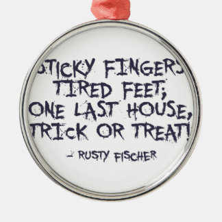 Trick Or Treat Halloween Design Metal Ornament