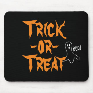 Trick-or-Treat Halloween Ghost Saying Boo v2 Mouse Pad