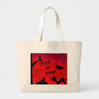 Trick or treat - Halloween landscape Large Tote Bag