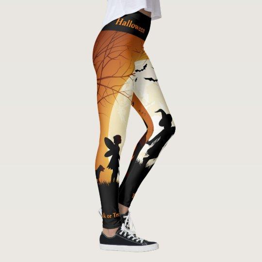 Trick or Treat Halloween Leggings Pumpkin Pants