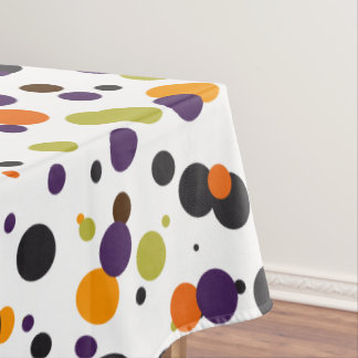 Trick or Treat Halloween Modern Polka Dots Tablecloth
