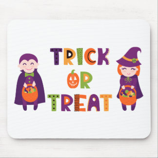 Trick or Treat Halloween Mouse Pad