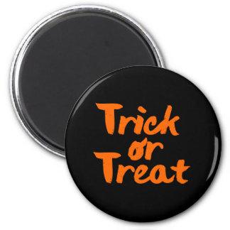 Trick or Treat Halloween Orange Brush Stroke Magnet