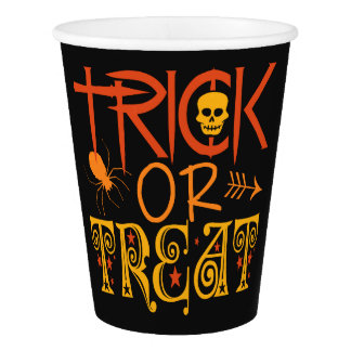Trick or Treat Halloween paper cups Paper Cup